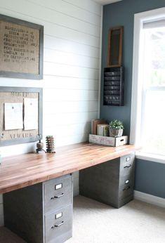 40 easy diy farmhouse desk decor ideas on a budget (31)