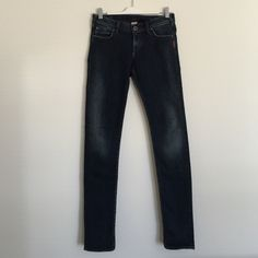 """Silver jeans Sienna dark distressed skinny 27/33 Style: sienna. Excellent condition. Distressed look. Stretchy 27/33. So soft! 7.5"""" rise, 32"""" inseam. Bundle to save 25%! Silver Jeans Jeans Skinny"""