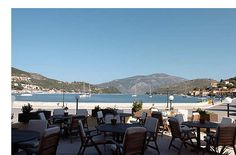 The harbour view from our hotel in Vathy, Ithaki, Greece - beautiful