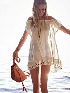 Swimsuit Cover Ups - Beach Dresses, Rompers & More - Victoria's Secret Summer Outfits, Cute Outfits, Beach Outfits, Beach Dresses, Dress Beach, Mode Boho, Bathing Suit Covers, Bathing Suits, Boho Fashion