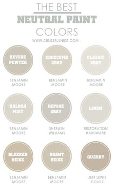 How to picking the best neutral paint colors & our favorite shades by A Blissful Nest.