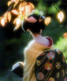 舞妓はん 銀賞(1)「秋の陽射し」 柘植忍