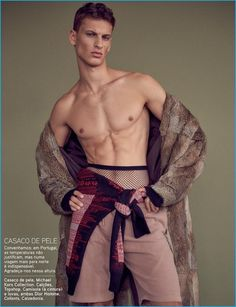 David Trulik has a fur moment in Michael Kors for a fashion editorial from GQ…
