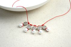 Inspired pearl necklace designs-a string and pearl charm necklace for girls – Pandahall