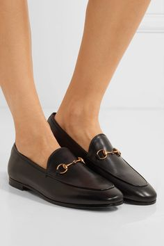 49d5bd5b446 Heel measures approximately 10mm  0.5 inches Black leather Slip on Made in Italy  Leather Loafers