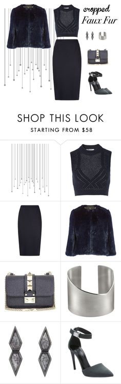 """""""Cropped Faux Fur Coats"""" by leahbprice ❤ liked on Polyvore featuring moda, T By Alexander Wang, Ted Baker, Valentino, Proenza Schouler, women's clothing, women, female, woman i misses"""