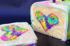 rainbow surprise cake .... because someone doesn't have a pinterest page of his own.