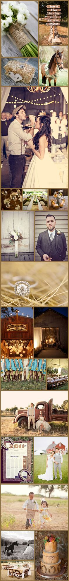 LOVE LOVE LOVE rustic weddings!