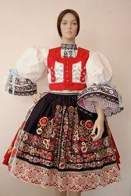 antique czech folk costumes -