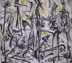 Nanno de Groot, Untitled, 1950.  Oil on canvas, 52 x 59 inches