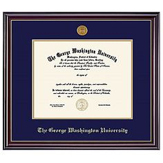 Prepare for graduation with a #GWU Diploma frame! Product: Windsor Diploma Frame with Medallion (Bachelor/Master)