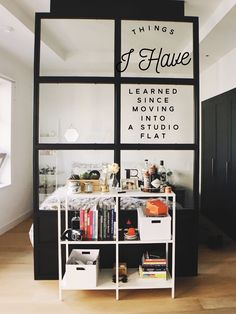 Things I have learned since moving into a studio flat aka living in a tiny space!