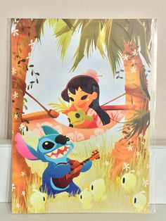 Disney WonderGround Gallery Lilo & Stitch MUSIC TO MY EARS Postcard by June Kim    eBay