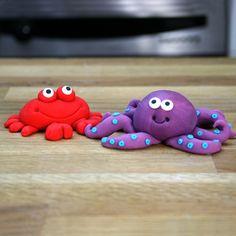 Under The Sea Cake Tutorial | Fondant Crab & Octopus