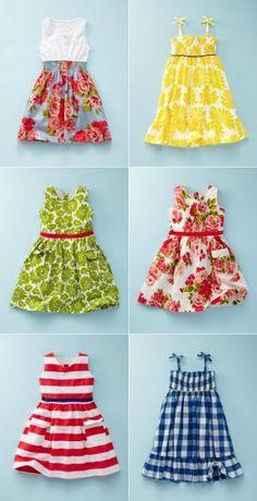 Fun summer dresses for little girls.