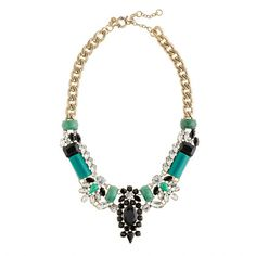 Someone buy this for me immediately - Crystal-encrusted collar necklace from JCrew.
