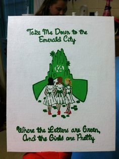 Throwback to Sisterhood Day during Recruitment 2014  Kappa+Delta+Canvas+Painting+by+MyCraftingBoutique+on+Etsy,+$16.00
