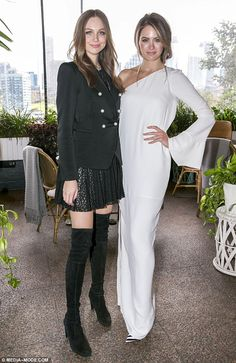 Ksenija Lukich and Jesinta Campbell - Olay Total Effects campaign launch in Sydney.  (30 June 2016)