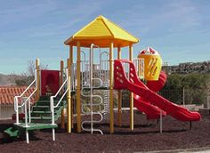 Recycled Rubber Surface Playgrounds & Rubber Mulch