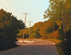 Jim Holland (1955 - Present), American Artist - Road by the Pond - 22 x 28