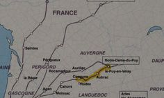 Camino Le Puy en Velay the Via Podensis - Le Chemin du Puy the GR65