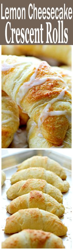 Lemon Cheesecake Crescent Rolls – Super easy and incredibly soft Crescent Rolls filled with a sweet and delicious lemon and cream cheese mixture.