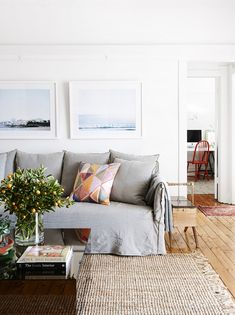 The Sydney apartment of interior designer Dominique Brammah and her partner Ashley Ryan. Joe sofa from...