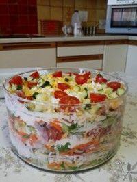 Tasty Vegetarian Recipes, Best Salad Recipes, Avocado Recipes, Kefir Recipes, Cooking Recipes, Oven Roasted Butternut Squash, Kos, Rainbow Salad, South African Recipes