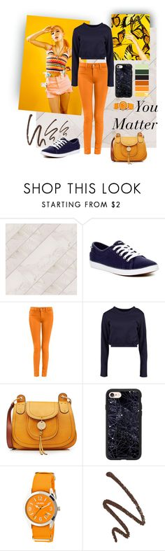 """""""You Matter Orange Set"""" by i-am-khaleesi1 on Polyvore featuring Keds, Boohoo, See by Chloé, Casetify and Crayo"""