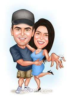Shop for Caricature artist draw cartoon portrait and Custom Cartoon logo, business card, poster, banner design for your business. Cartoon Logo, Cartoon Design, Wedding Caricature, Caricature Artist, Wedding Proposals, Game Ui, Banner Design, Wedding Portraits, Art Photography