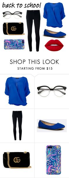 """""""Sin título #507"""" by candy-nohemi-velazco-mendiola ❤ liked on Polyvore featuring Venus, Levi's, Gucci and Lilly Pulitzer"""