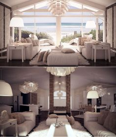 I love the light tones and cosy fabrics, maybe not all the furniture is my taste but the overall look is beautiful! Beautiful Home Designs, Beautiful Interiors, Modern Interior Design, Interior Architecture, House Rooms, Home Buying, House Design, Living Room, Coolers