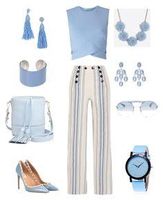 """Beauty of blue"" by sandra-love-1 on Polyvore featuring Miss Selfridge, Lemlem, Valentino, Milly, Maison Margiela, Kenneth Jay Lane, BaubleBar and Prada"