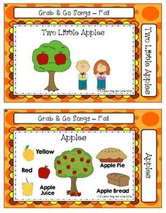 FREEBIE - Song cards for Early Childhood and Kinders. Words and additional activities for learning and fun on the back. Put them on a ring and your ready to Grab and Go!