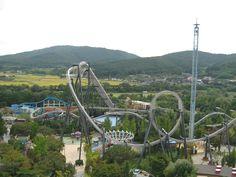 Gyeongju World - one of Korea's best amusement parks Korea Tourist Spots, Korea Tourist Attractions, Best Amusement Parks, Gyeongju, Roller Coaster, First World, South Korea, Bing Images, Places To Visit