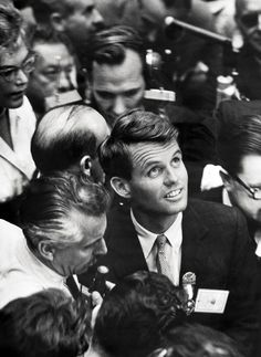 """Robert F. Kennedy's last words to his wife after being shot: """"Is everyone else all right?""""  Terrible when he was assassinated. The country mourned again for another Kennedy."""
