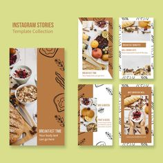 Instagram stories for restaurant brandin... | Free Psd #Freepik #freepsd #food #business #menu #technology Restaurant Branding, Restaurant Menu Template, Restaurant Restaurant, Food Branding, Food Web Design, Menu Design, Flyer Design, Layout Design, Design Design