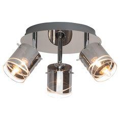 Plafondlamp Carlow 3L Chroom 22cm