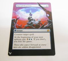 MTG Altered Painted Pact of Negation Modern Masters  #WizardsoftheCoast