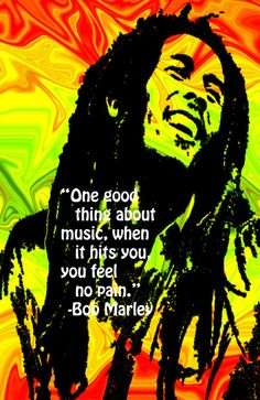 bob marley.. would be a cute quote for a music room/studio