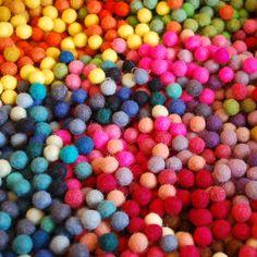 Wool Felt Balls #coloreveryday