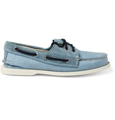 Sperry Top-Sider & Band of OutsidersSuede-Trimmed Boat Shoes