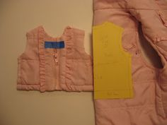making a American Girl Doll ski vest from a child's ski vest (upcycled). Also has tutorials for making a shirt, footless tights, and and a skirt. Sewing Doll Clothes, Girl Doll Clothes, Girl Dolls, Doll Dress Patterns, Clothing Patterns, Sewing Patterns, American Girl Clothes, American Girls, Handmade Clothes