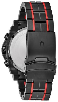 fbdcdd605178 Bulova 98B313 Precisionist Mens Watch Black 46.5mm Black IP Stainless Steel  and Forged Carbon case