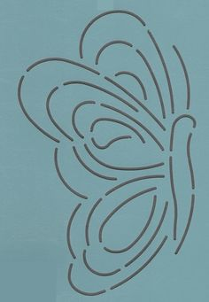 """Butterfly #1 Side- 7"""" - The Stencil Company"""