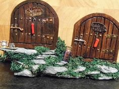 Double Fairy Doors Real Fairies, Fairy Doors, Folk, Popular, Forks, Folk Music