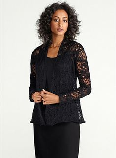 Shaped Cardigan in Wavy Washed Mohair Lace, $258, R3WME-K0006M