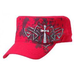 0ca45c0cec9d8 Look what I found on Blazin Roxx Red Splatter Embroidered-Cross Cadet Cap  by Blazin Roxx
