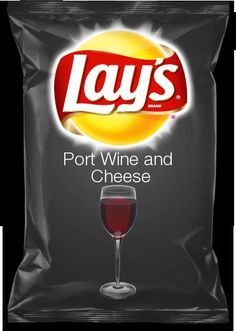 That'd Be YUM !! Bring it on... Port Wine & Cheese Chips