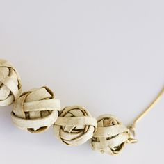 My Knot Necklace . Natural & Gold